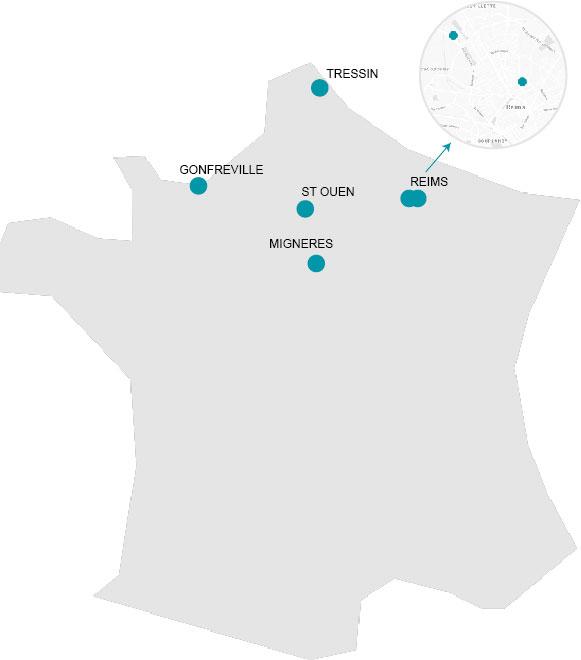 implantations du Groupe Brabant en France